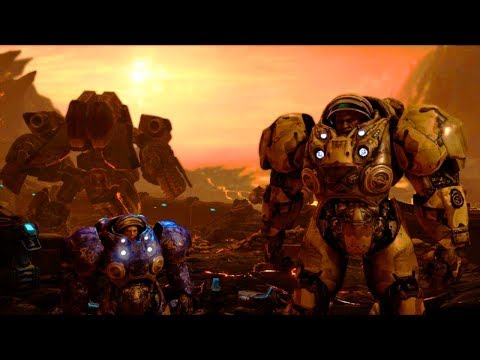 Shatter the Sky: Jim Raynor Destroys Space Platforms Orbiting Char (Starcraft 2)