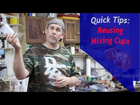 Quick Tips - Reuse Your Resin Mixing Cups