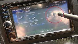 Kenwood DNX6690HD Navigation firmware & Bluetooth update