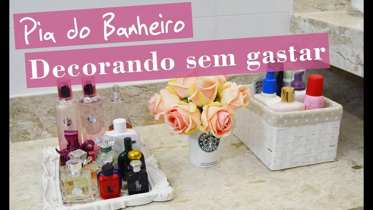 DICA Como decorar a bancada do banheiro sem gastar Estilo  #A36428 2850 1687