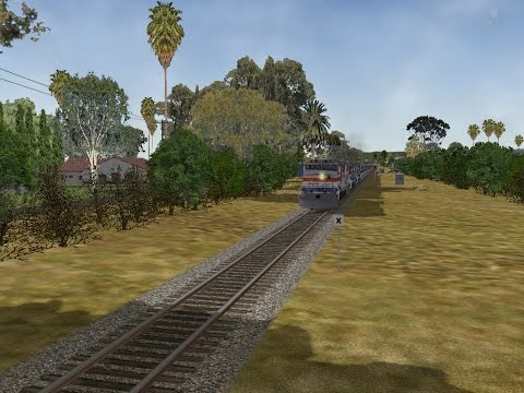 MSTS (Open Rails) - Amtrak Flies at Santa Barbara
