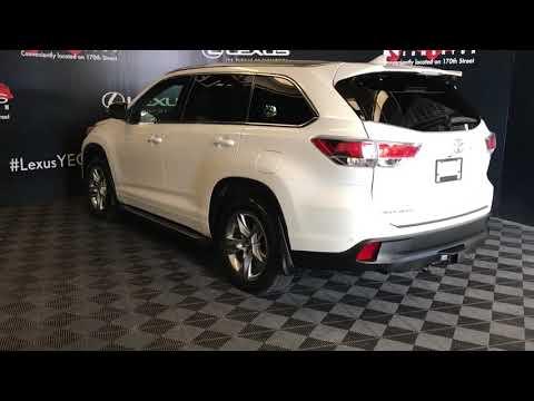 White 2016 Toyota Highlander Limited Review Edmonton Alberta - Lexus of Edmonton