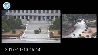 شاهد.. لحظات انشقاق جندي كوري شمالي وفراره إلى كوريا الجنوبية