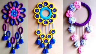 DIY 3 best woolen design | easy woolen door and wall hanging tutorial for begginers | woolen craft