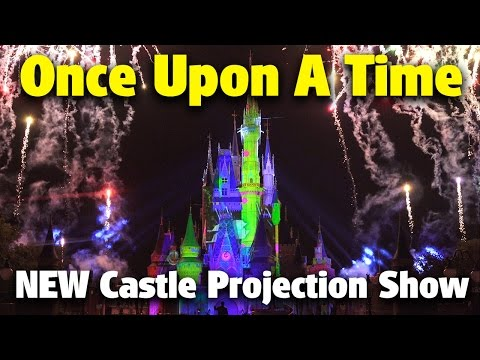 NEW 'Once Upon a Time' Castle Projection Show | Magic Kingdom