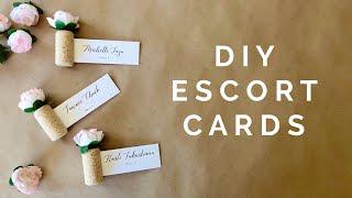 DIY Wedding Idea: Cork Escort Cards