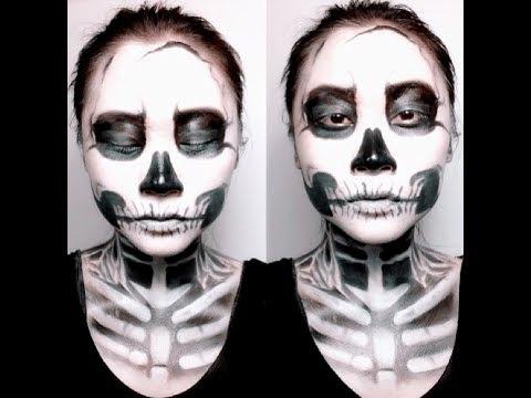 halloween sminkning skelett