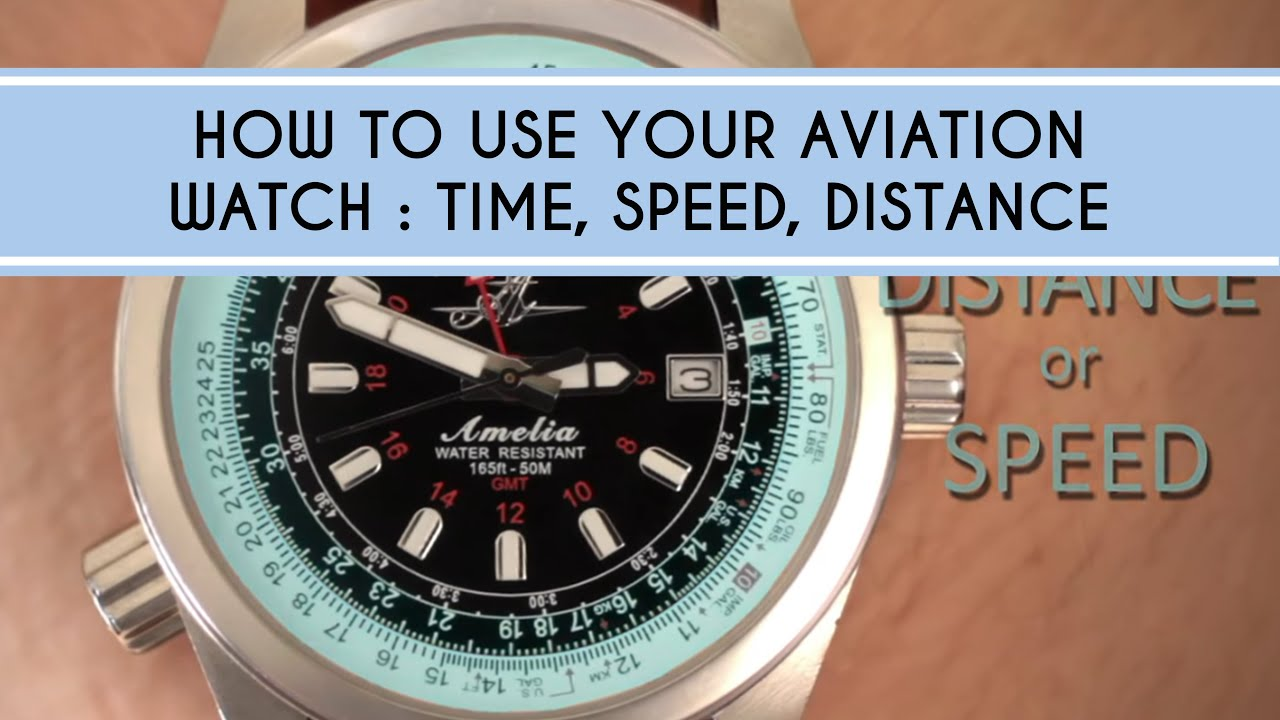 How To Use Your Aviation Watch Time Speed And Distance Calculations