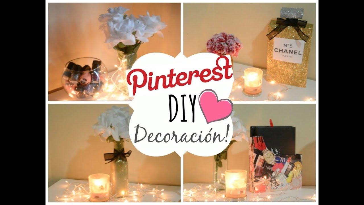 Diy 39 s para tu habitacion pinterest youtube - Cosas para decorar la habitacion ...