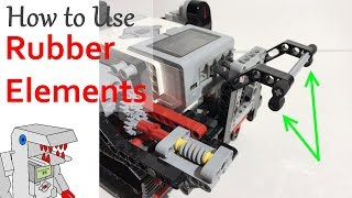 Four ways to use Rubber Elements in an EV3 Robot