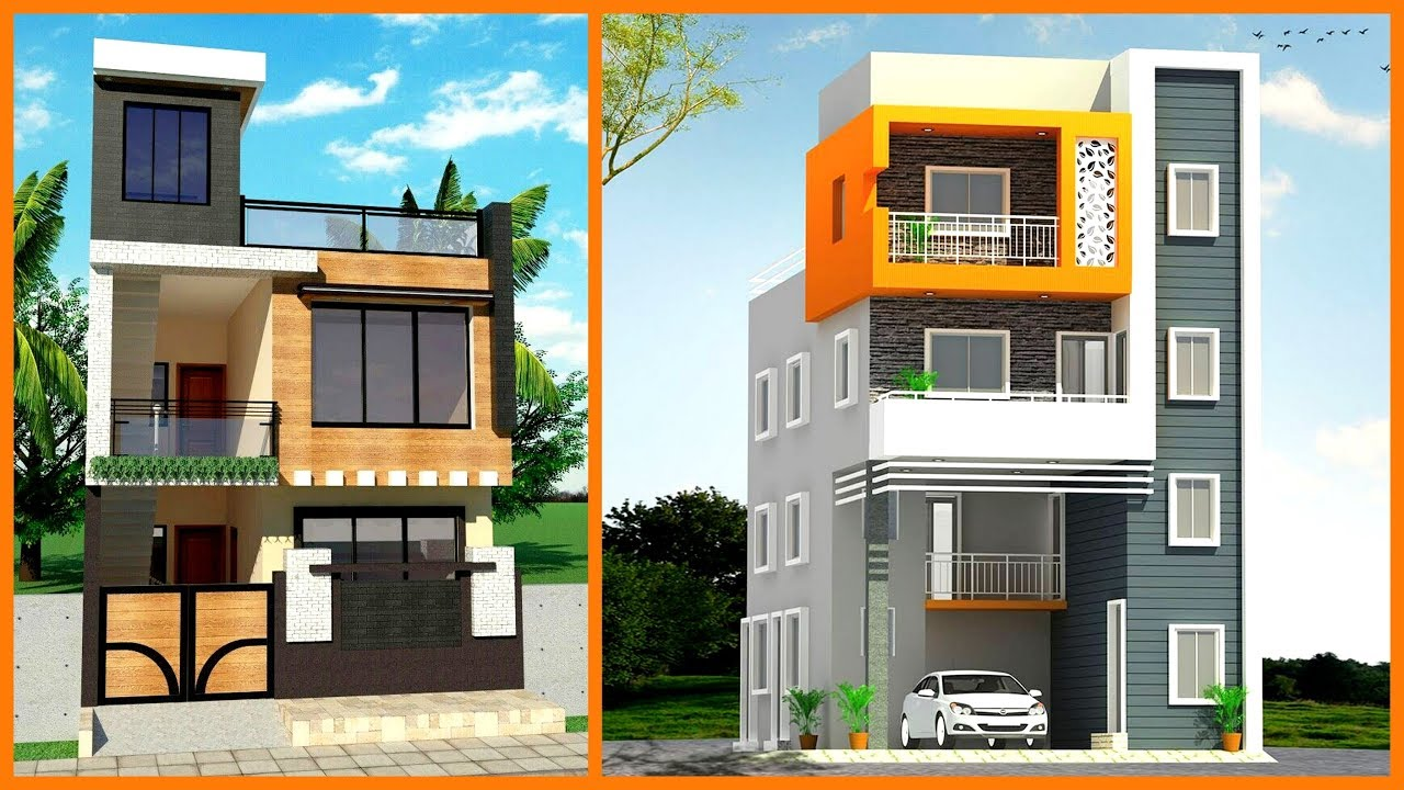 50 Modern Small House Front Elevation Design 3d Views