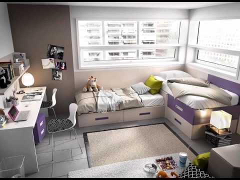 Dormitorios infantiles con camas armarios estantes y mesas for Ideas para decorar dormitorio juvenil