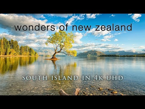 NEW ZEALAND WONDERS (No Music) 100% Pure Nature 4K UHD Ambient Documentary Film -1HR