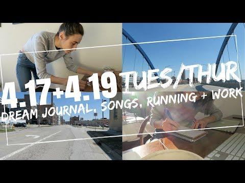 tuesday-+-thursday-|-dream-journal,-songs,-running-+-work