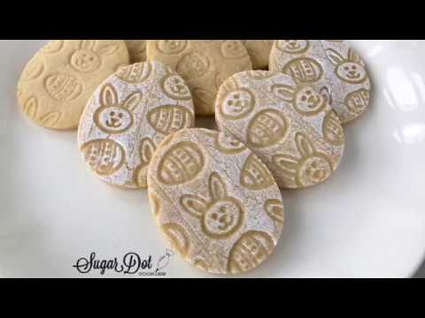 Shabby Chic Imprint Easter Egg Sugar Cookies