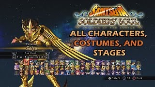Saint Seiya Soldiers Soul All Characters, Costumes, and Stages