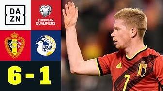 Kevin de Bruyne führt Belgien zu perfekter Quali-Ausbeute: Belgien - Zypern 6:1 | EM-Quali | DAZN
