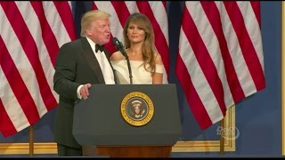 Trumps Speaks At Inaugural Ball