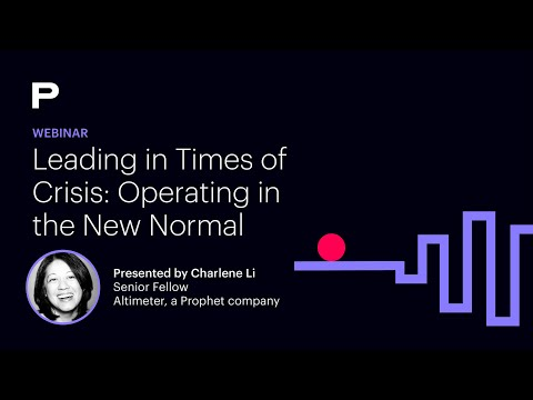 Webinar Replay   Leading in Times of Crisis: Operating in the New Normal