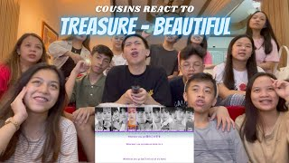 Download COUSINS REACT TO TREASURE - BEAUTIFUL LYRICS [FULL VER.]