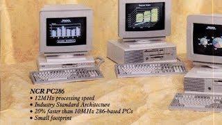 1990 NCR 286 computer imitates a Samsung Galaxy Note 7
