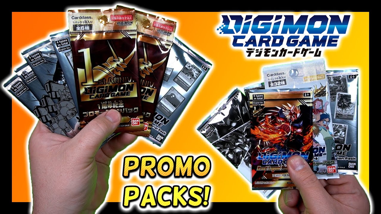 Opening Up A TON Of Digimon Card Game Promo Packs! | Digimon TCG