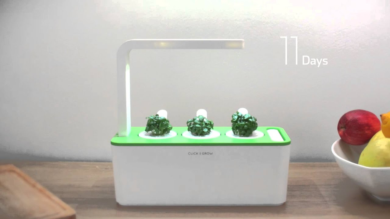 How Does It Work The Click Grow Smart Herb Garden Youtube