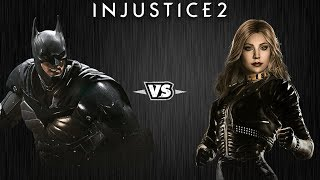 Injustice 2 - Бэтмен против Чёрной Канарейки - Intros & Clashes (rus)