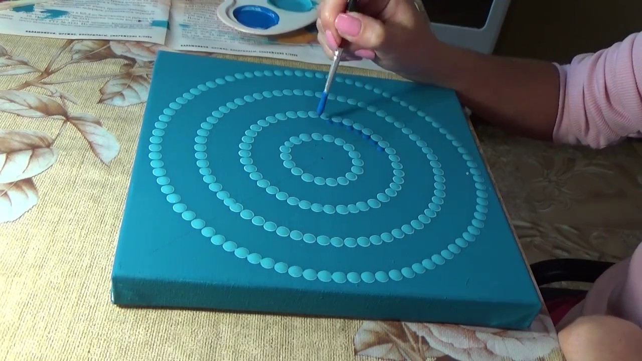 Dot Painting Mandala Acrylic Painting Element Quot Water
