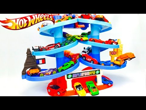 circuito de coches hot wheels autos de colores para nios juegos infantiles