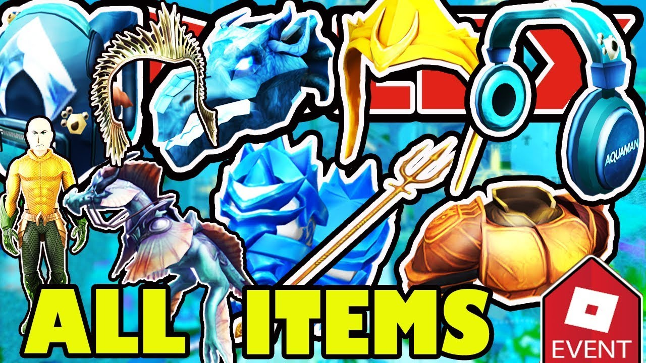 Event How To Get All Items In The Roblox Aquaman Event 2018