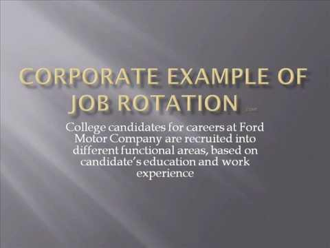 Example of job rotation