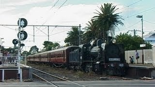 Steam Train on the Broadmeadows Line - Essendon Shuttles: Australian Trains
