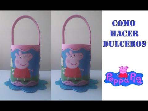 093b4548c COMO HACER DULCERO PEPPA PIG DE FOAMY - YouTube