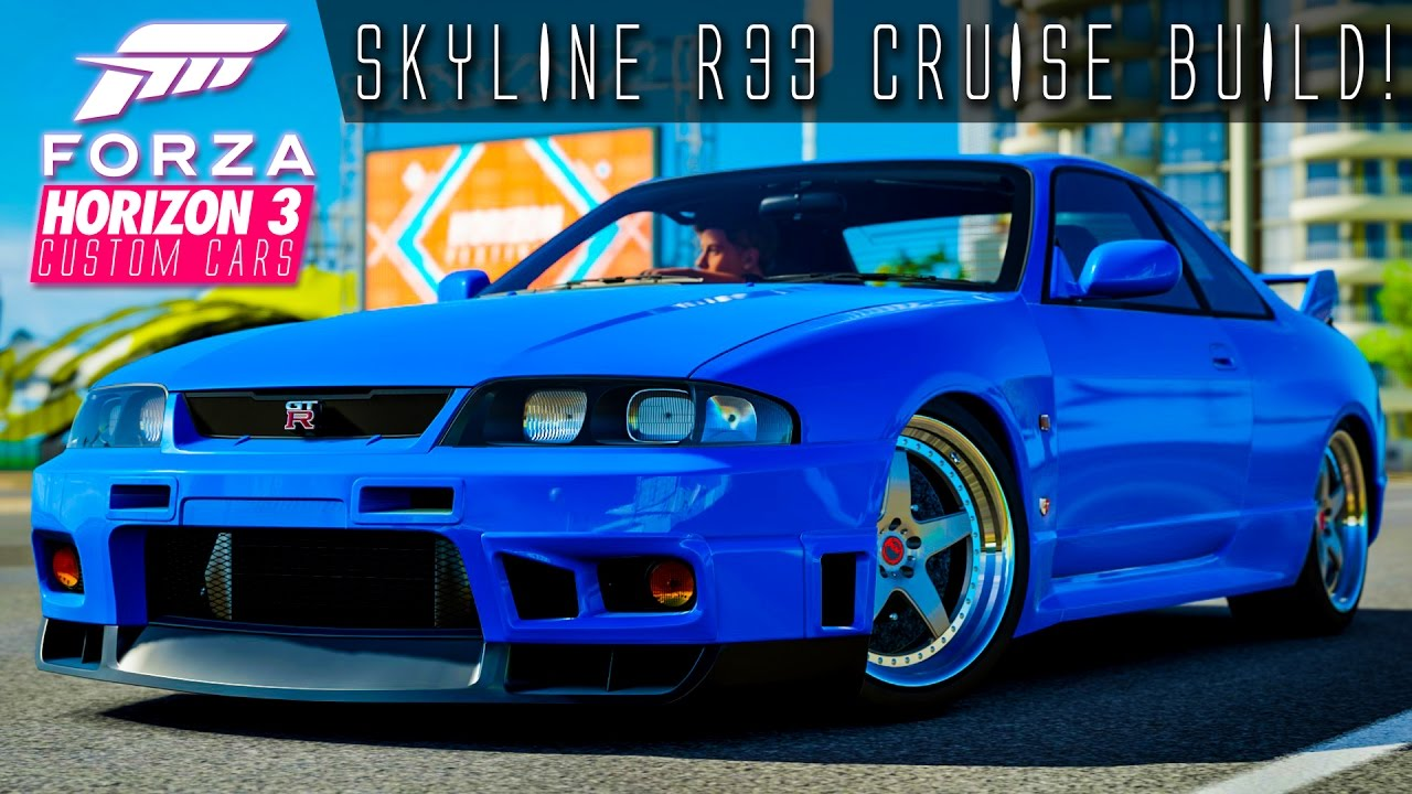 621hp Nissan Skyline Gtr R33 Cruise Build Forza Horizon 3