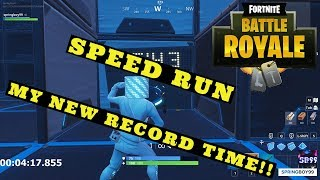 MY NEW RECORD SPEED RUN IN FORTNITE