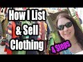 How I List & Sell Clothing 4 Easy Steps for an Online Reseller Amazon, Ebay, Poshmark