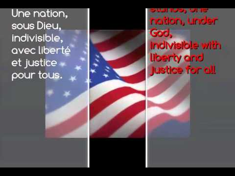 Cajun French - pledge of Allegiance to the United States of America