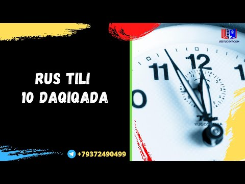 RUS TILI 10 DAQIQADA I РУС ТИЛИ 10 ДАКИКАДА