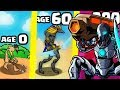 IS THIS THE HIGHEST AGE ADVANCED SOLDIER CYBORG EVOLUTION? (9999+ STRONGEST UPGRADE) l Age Of War 2