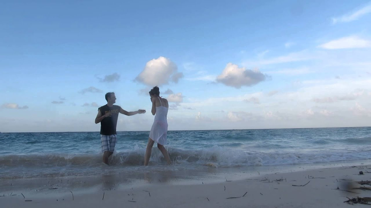 Cute Engagement Surprise Marriage Proposal On Beach