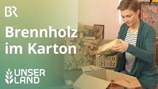 Geschäftsidee für Waldbauern: Brennholz im Karton verkaufen | Unser Land | BR Fernsehen