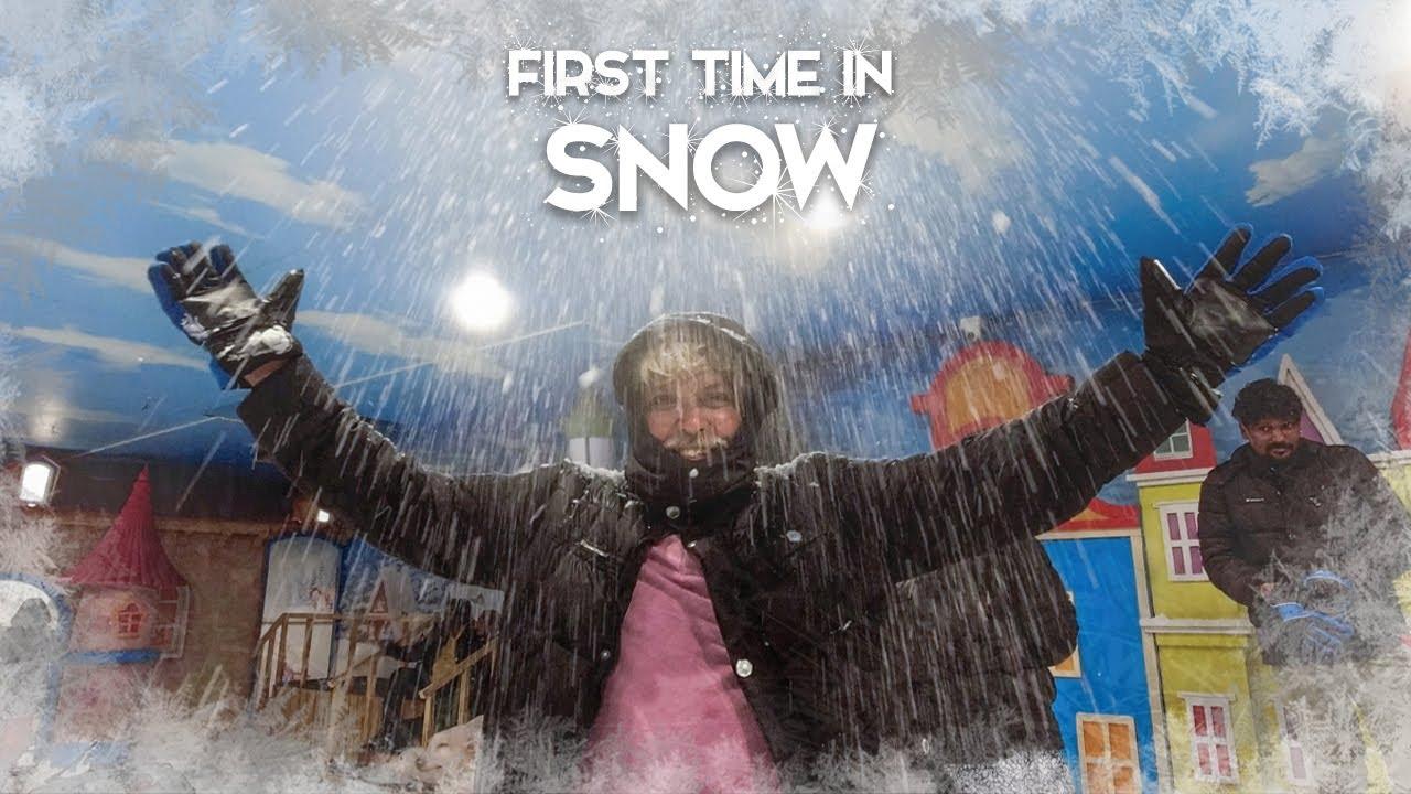 Mini SNOW WORLD in Express Avenue Mall   Semma Enjoyment! ❄