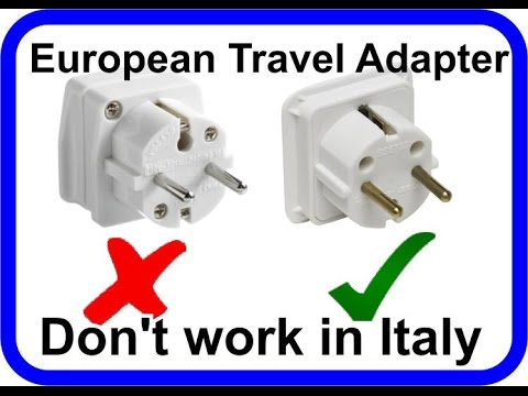Euro Plug Adaptor From Pound Shop Did Not Work In Italy