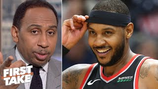 Download Carmelo Anthony will be a difference-maker for the Trail Blazers – Stephen A. | First Take Mp3 and Videos