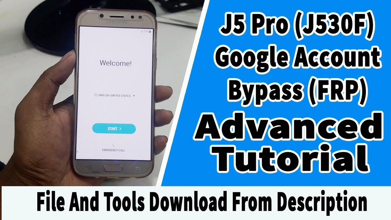 Samsung J5 Pro (2017) J530F Bypass Google Account   Bypass Google Account  verification Android 7 0