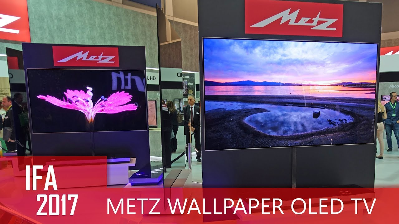 metz wallpaper uhd oled tv auf der ifa 2017 youtube. Black Bedroom Furniture Sets. Home Design Ideas