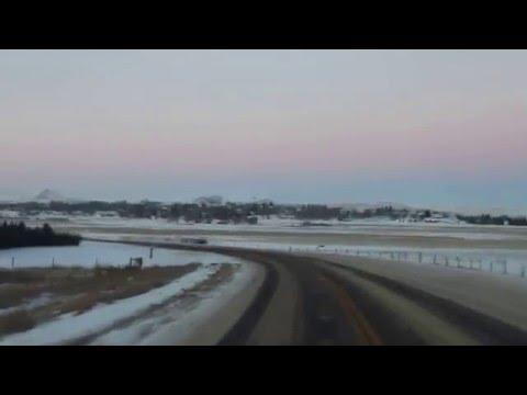The highway North through Rockglen Saskatchewan
