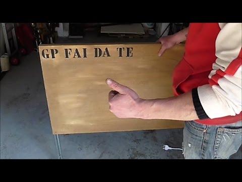 Tavoli Pieghevoli Fai Da Te.Make A Folding Table Diy Youtube