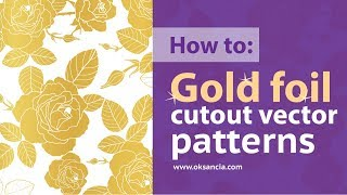 How to design a vector gold foil pattern with roses in Adobe Illustrator CC